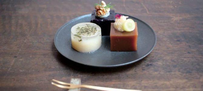 京都梅园的创新装饰羊羹,带来视觉与味觉的双重享受