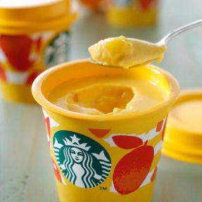 【日本必吃甜点】星巴克夏日新口味!香味浓郁吃得到果肉的芒果布丁來咯