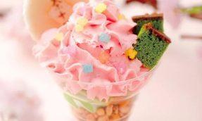 【京都必吃甜点】宇治茶老铺祇园辻利把春色通通收进甜点里,推出季节限定款樱花霜淇淋