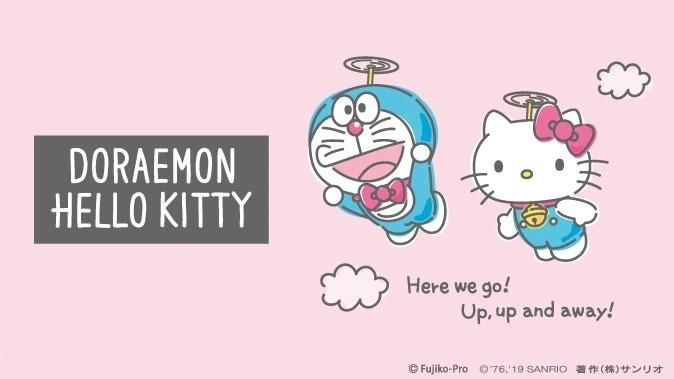 哆啦A梦 X Hello Kitty推出联名周边商品,超可爱手绘风文具杂货粉丝必收